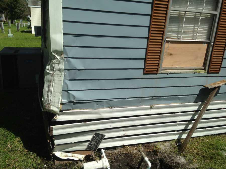 The damaged homes were on Epworth Lane, Sunburst Drive and Tanglewood Drive.