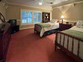One of the three remaining guest rooms.