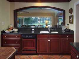 Exquisite cabinetry in the kitchen.