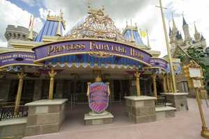 Princess Fairytale Hall at the Magic Kingdom inside new Fantasyland opened to the public on Wednesday.