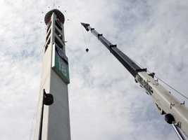 Interstate 4 drivers may notice a new digital sign on the tower outside the WESH 2 studio in Winter Park. See photos of the construction process.