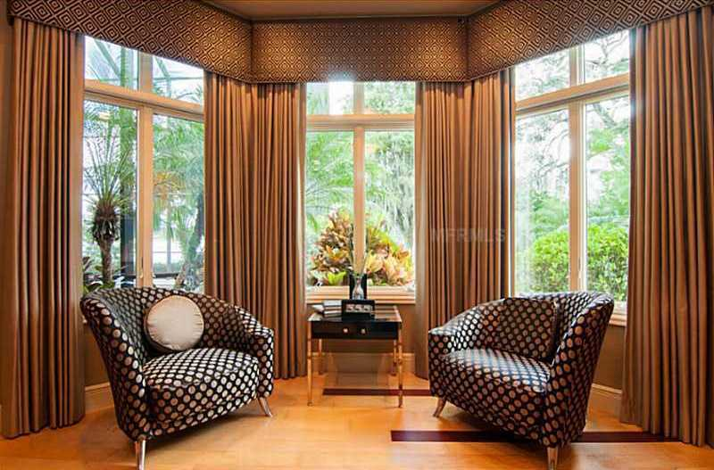 View of the suite's charming lounging area.