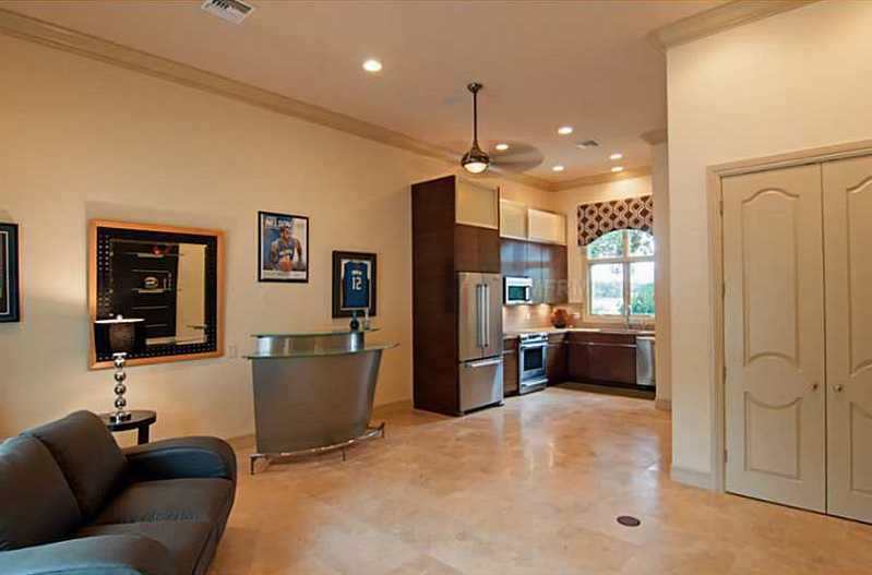 This apartment could be the perfect man cave or living quarters for an extended guest.