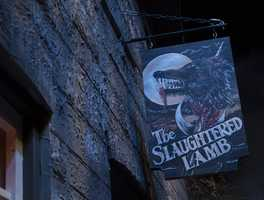 1. An American Werewolf in London - Re-live the iconic movie in our favorite haunted house this year. This house has some incredible details taken from the movie, including the bone-crunching transformation of David from human to bloodthirsty werewolf.