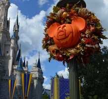Fall is in the air at Walt Disney World -- with the help of decorations, since Florida's temperatures are still plenty warm.