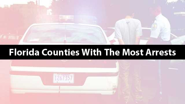 See the 25 Florida counties with the highest arrest rate per population in 2012. Is your county on the list?