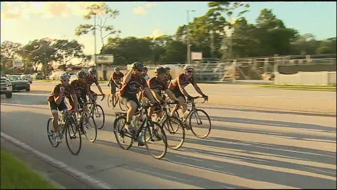 Cyclists return to Longwood after warrior grind bike ride