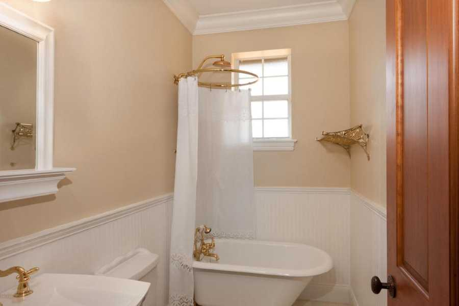 Another charming antique-inspired private bathroom.