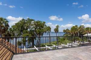 Enjoy views of the Indian River from the rooftop balcony.