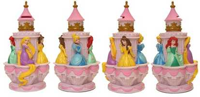 If you have a Disney Princess fan in your house, then the small castle banks are a must have.