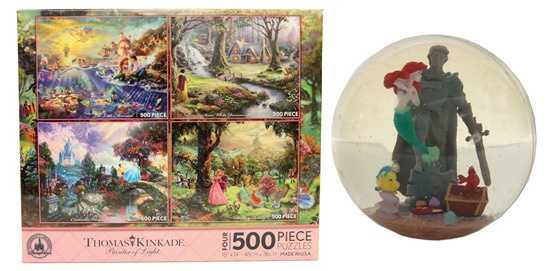 "A Thomas Kinkade 500-piece puzzle and a rubber ball featuring a scene from ""The Little Mermaid"" are also available this Fall."