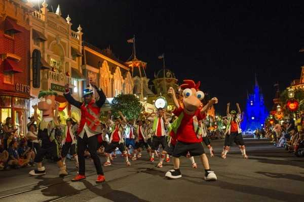 The parades start at 8:15 p.m. and 10:30 p.m.