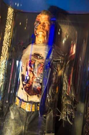 """In the Planet Hollywood lobby, guests can find The Terminator from """"Terminator 2: Judgment Day."""""""