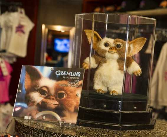 """In the merchandise shop, guests can find a model of """"Gizmo"""" from the movie """"Gremlins."""""""