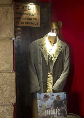 """A costume worn by Leonardo DiCaprio in """"Titanic"""" can be seen on the 3rd floor of the restaurant."""