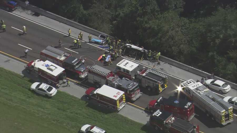 A serious accident closed Interstate 4 eastbound at the St. Johns River bridge Friday.