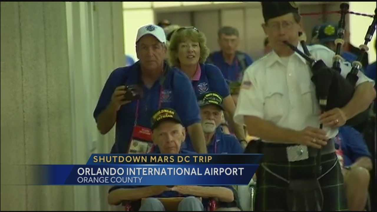 World War II veterans' trip to Washington dampened by shutdown