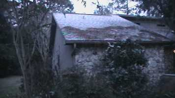 Frost on a house in Ocala.  Photograph taken in 2010.