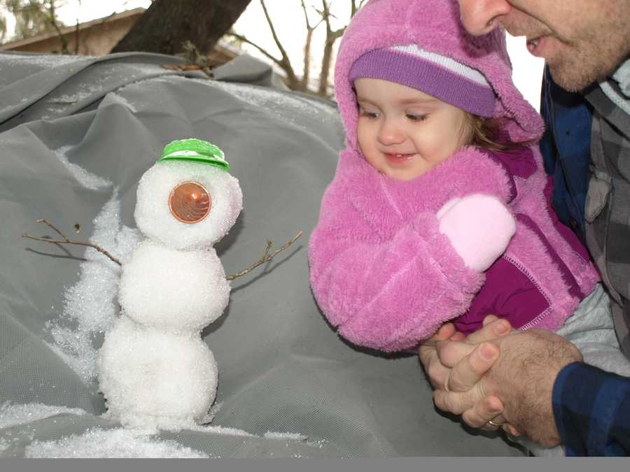 Snowman in Ormond Beach, Florida. Photograph taken in 2010.