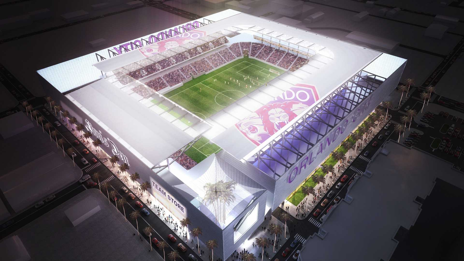 An unauthorized rendering of what the proposed Orlando City Soccer stadium could look like surfaced Monday.