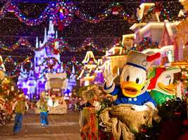 Mickey's Very Merry Christmas Parties begin on Nov. 8 and continue through the holiday season. The nightly celebrations include special entertainment, fireworks and a holiday parade.