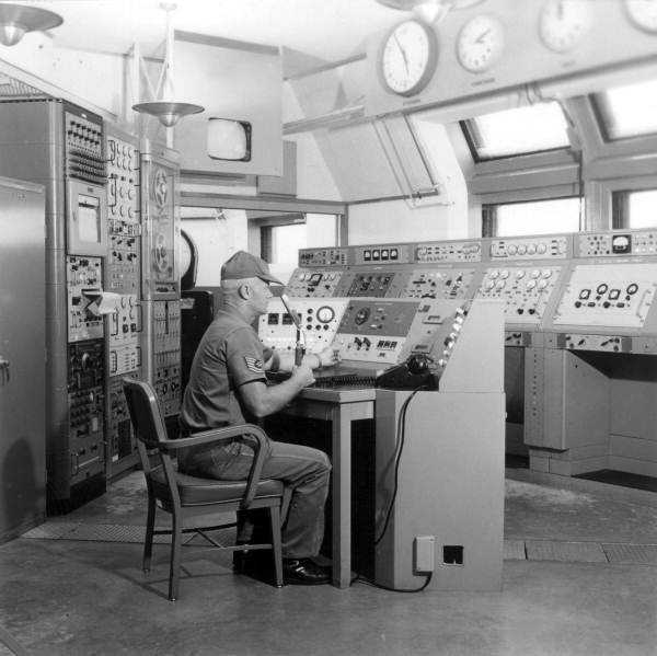 NASA control room. Photograph taken in 1970.