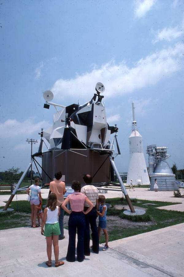 Visitors at the Kennedy Space Center.  Photograph taken in 1996.