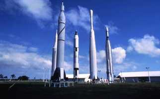 A recent picture of the Florida rocket garden.