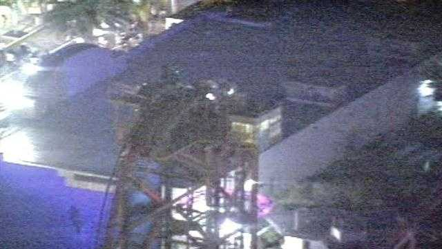 Riders were stuck on a Universal Orlando roller coaster Wednesday night.