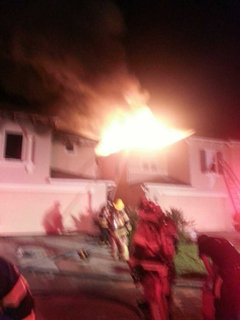 Fire crews in Osceola County battled a two-alarm fire Thursday morning.