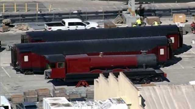 All aboard! Chopper 2 has spotted Hogwarts Express at Universal Studios.