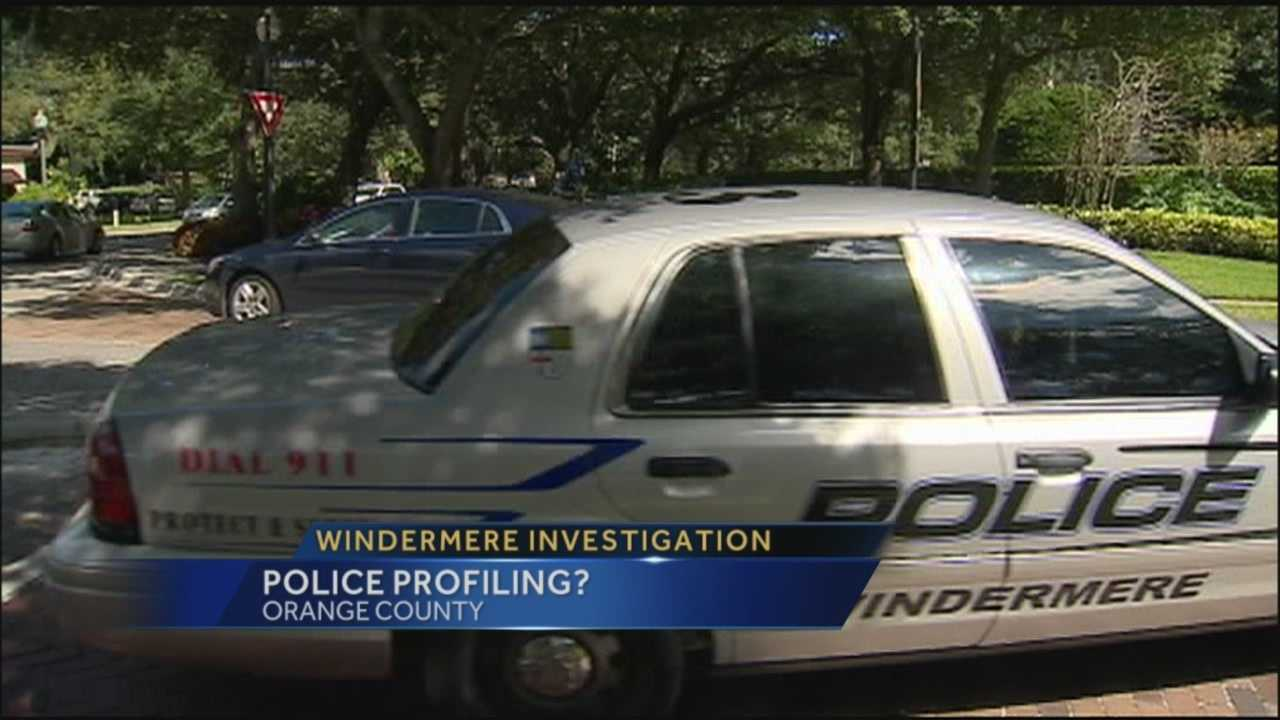 Windermere police under investigation of profiling minority drivers in traffic stops.