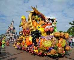 A parade, inspired by harvest time, is included as part of the celebration.