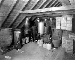 1920: Moonshine found in the attic of a home in Tampa.