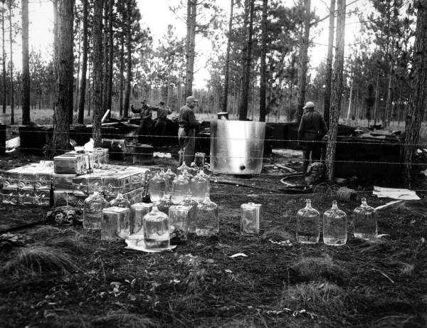 1961: A moonshine operation in Callahan.