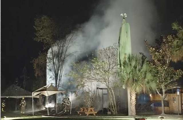 The Wekiva Island Bar was destroyed overnight by fire.