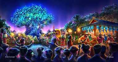 """Disney also says they will be adding new entertainment to Animal Kingdom, """"including a new nighttime spectacular where live music, floating lanterns, water screens and swirling animal imagery all combine to bring a show to Discovery River that will delight our guests and truly cap off their day at Disney's Animal Kingdom."""""""