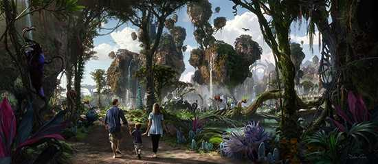 The first renderings of the new Avatar land planned for Disney World's Animal Kingdom have been released. The expansion is set to open in 2017.