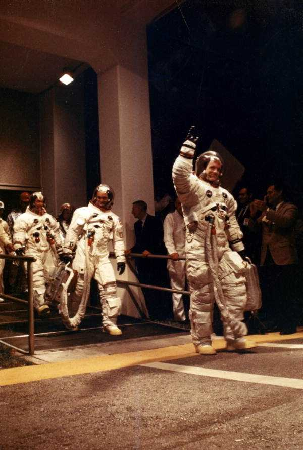 The men who walked on the moon taken in 1969.