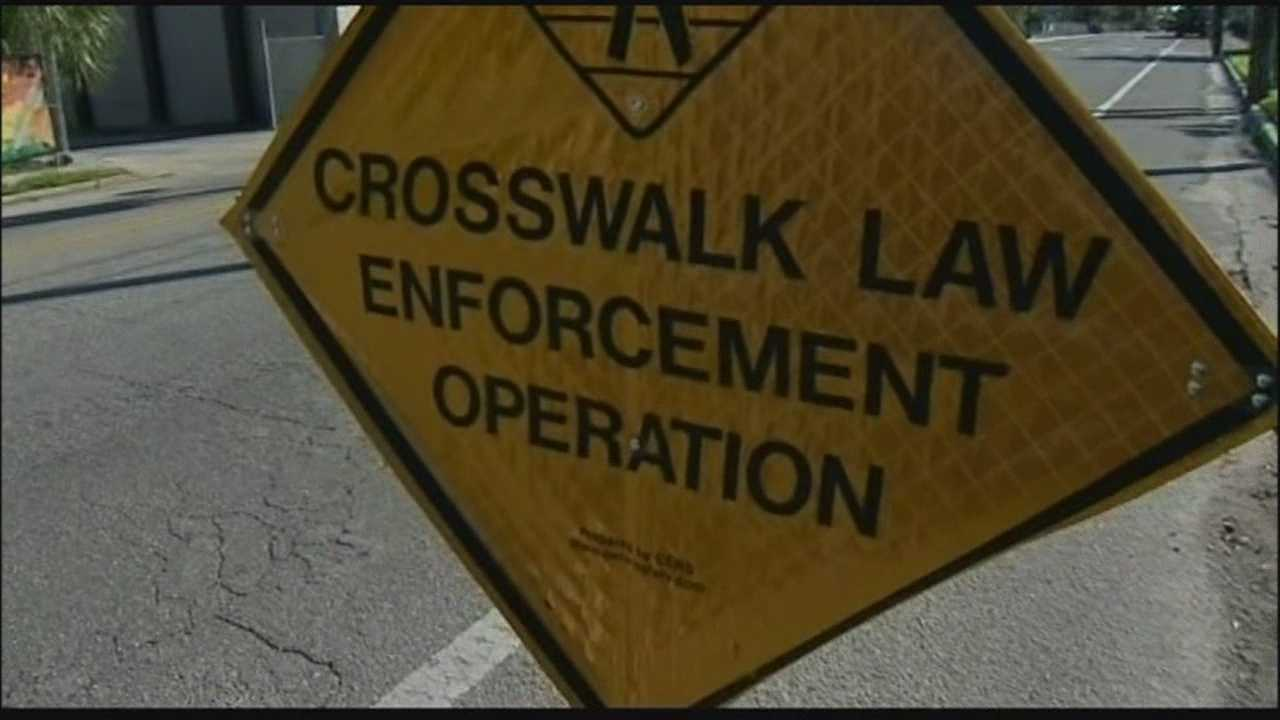 Drivers could be pulled over and receive tickets if they don't follow the rules of the road, especially in crosswalks.