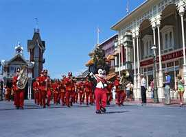 "Mickey Mouse, the dwarfs from ""Snow White and the Seven Dwarfs,"" Minnie Mouse, Dumbo, Alice in Wonderland, Jungle Book characters and more appeared in the parade."