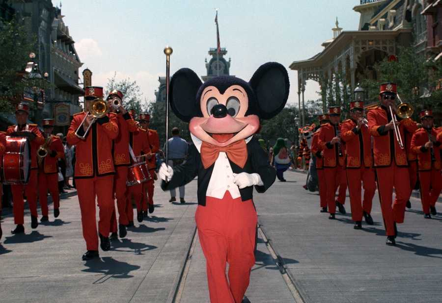 """The """"Character Parade"""" was the first ever parade in Magic Kingdom in 1971. The parade didn't have huge floats -- just characters, musicians and antique cars. It ran each day from October to December at 12:30 p.m. and 5:30 p.m."""