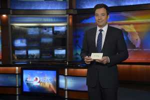 """Late night host Jimmy Fallon paid a visit to WESH 2 Wednesday to talk about his move to """"The Tonight Show"""" in 2013. See behind the scenes pictures of his visit."""