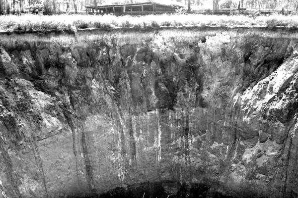 A newly formed sinkhole near Orlando (Date not known).