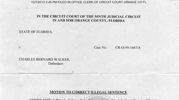 Oct. 7, 2013: Walker's forged release paperwork is filed with the Clerk of Court in Orange County.