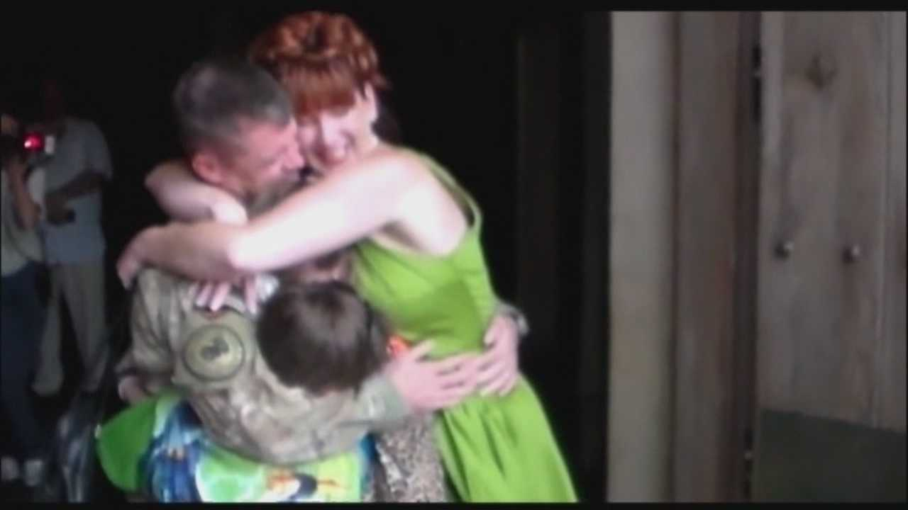 A soldier surprised his family, who was visiting Orlando from Nebraska, at Disney.
