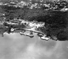 An aerial view of the vast Vizcaya property.