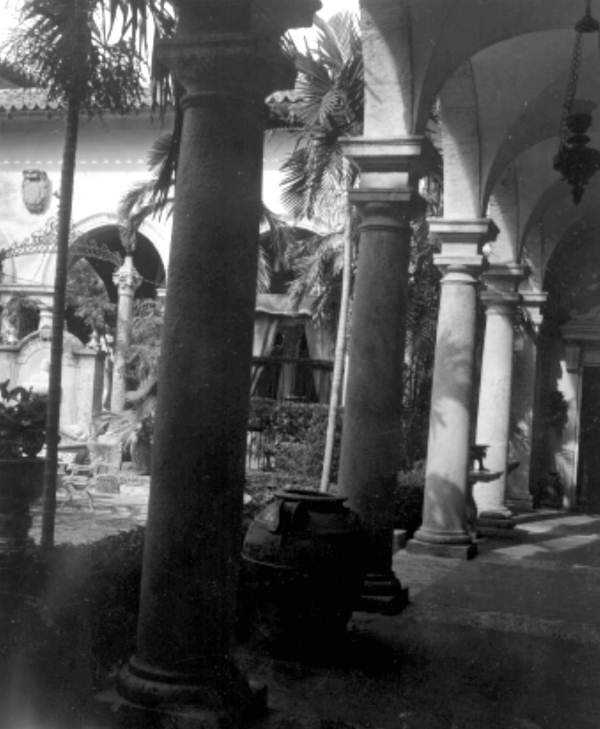 Pillars inside of the mansion.  Photograph taken in 1966.  Did you know that the mansion officially became a museum in 1952?  According to the official website of Vizcaya Museum & Gardens, James Deering's nieces officially gave Miami-Dade County the rights to the Vizcaya property.