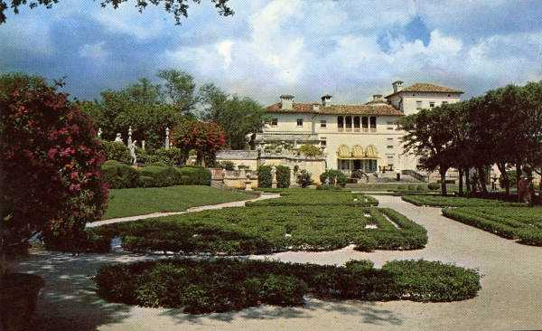 Photograph outside of the mansion.  Vizcaya was officially named a historic landmark in 1994.
