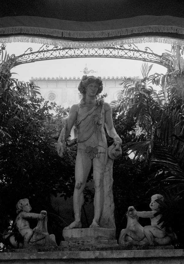 A statue of Dionysus inside of the Vizcaya mansion.  Photograph taken in 1986.